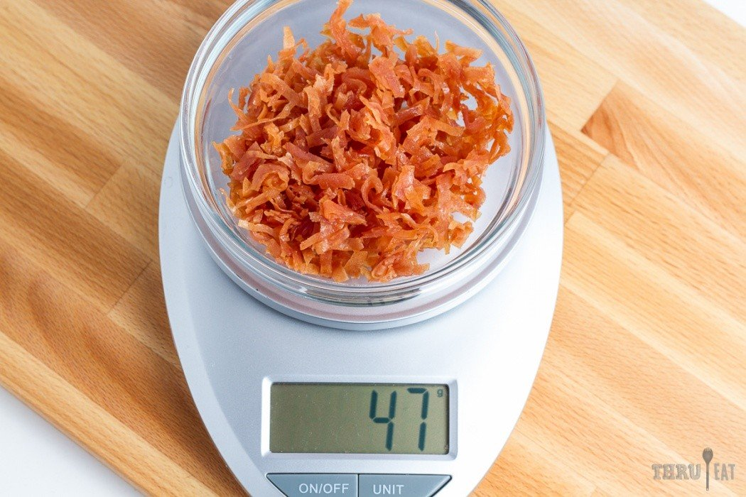 47 grams of dehydrated sliced deli turkey