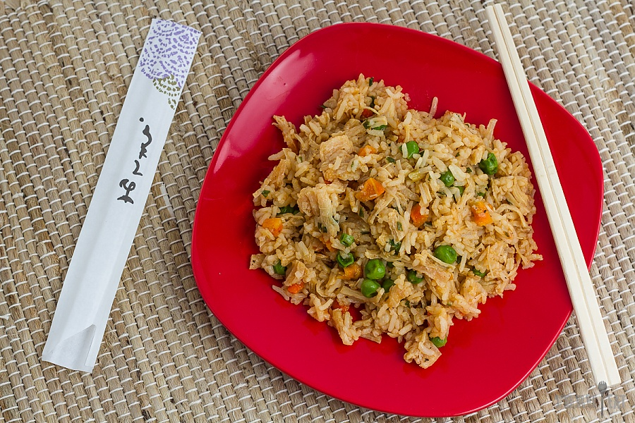 dehydrated chicken fried rice for backpacking