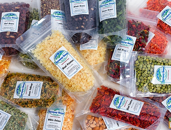 Harmony House Foods Backpacking Kit dehydrated vegetables