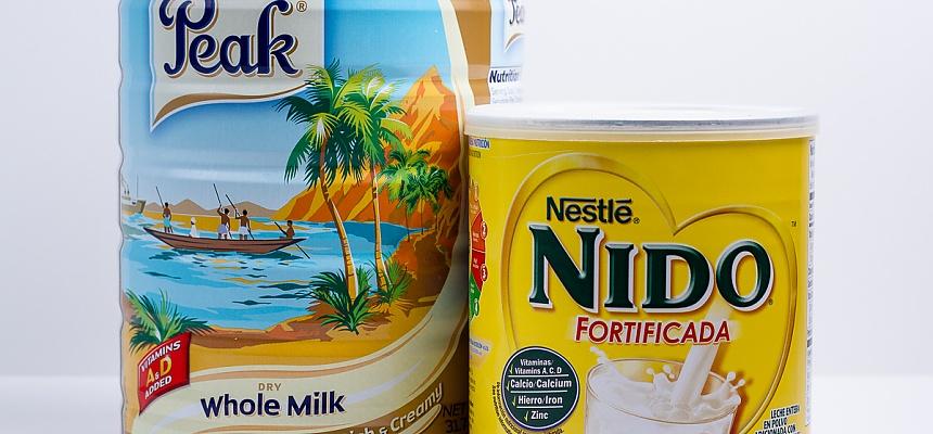 peak milk powder and nido milk powder