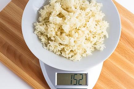 152 grams of dehydrated jasmine rice