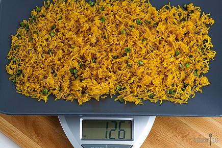 dehydrated golden basmati rice