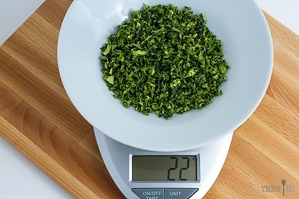 22 grams of dehydrated green bell peppers