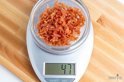 47 grams of dehydrated sliced deli turkey